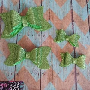 Other - Water resistant lime green hair bows